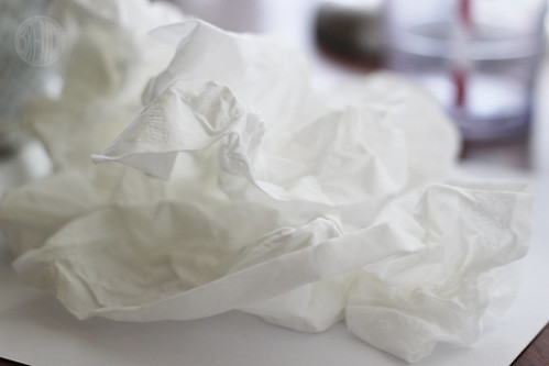 a storm of tissues