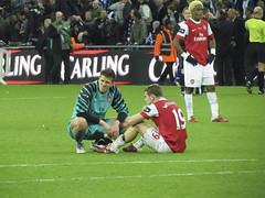 Rough with the smooth (shields_t) Tags: city england london alex cup sport jack football birmingham europe song soccer final futbol arsenal wembley carling 2011 wojciech szczesny wilshere