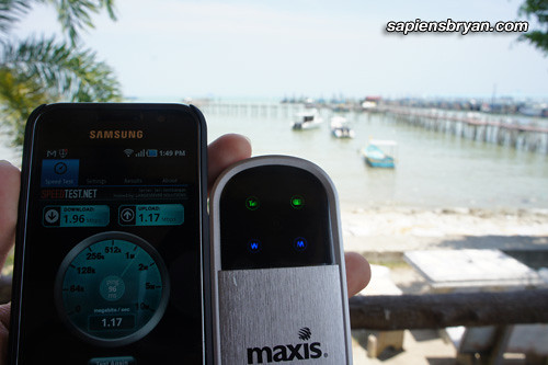 Maxis Wireless Broadband Speed At Penang National Park