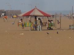 Chennai beach amusements (kaydeesquared) Tags: india beach fair february marinabeach chennai bayofbengal amusementrides 2011