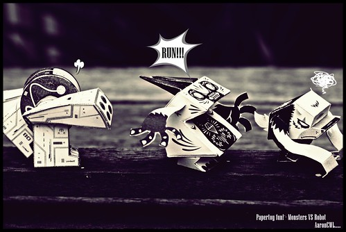 Monsters RUN!!!!!! Handmade papertoys...