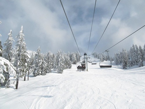 snowboarding/skiing at Cypress Mountain..