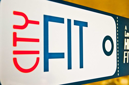 City Fit gym logo in downtown Beaufort