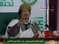 Gadafi en TV