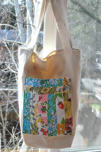 Vintage Sheet Patchwork Tote All