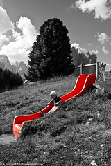 Slip on @ Dolomites (tarkun3) Tags: italy mountain playground fun tn slide dolomites dolomiti