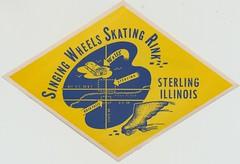 Singing Wheels Skating Rink - Sterling, Illinois (The Cardboard America Archives) Tags: vintage illinois skating sterling rollerskating rollerrink singingwheels skateyourdate