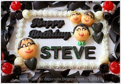 Creative Black Forest (Dapur Solia) Tags: green cherry birthdaycake ribbon figurine blackforest darkcherry arabesquesheet