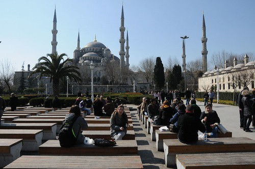 The Blue Mosque in the sunshine