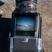 The viewfinder of the Hasselblad