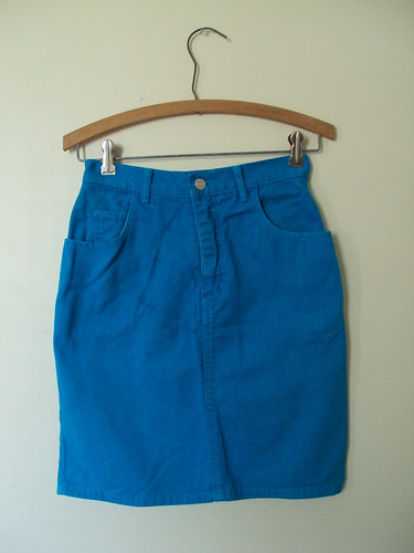 Teal Guess Jean Skirt