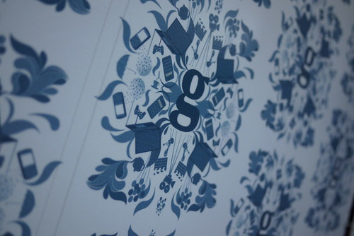 Guardian wallpaper at the SXSW trade stand