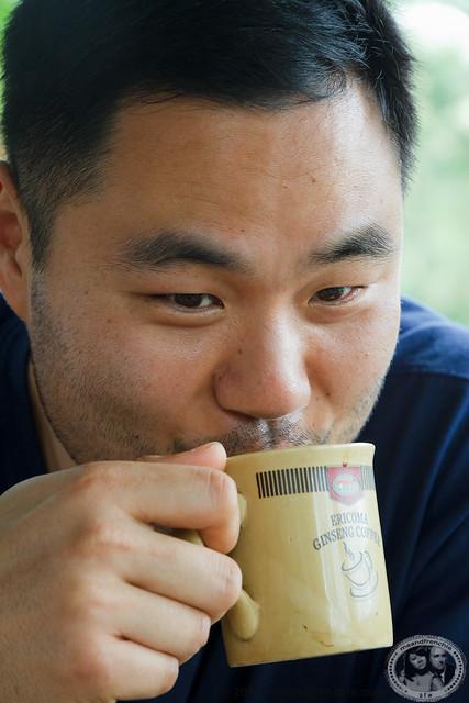Drinking Kopi Luwak