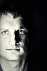 Portrait of you (_kristute_) Tags: light shadow portrait bw man face dark nikon d90