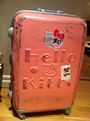 Hello Kitty suitcase to rest