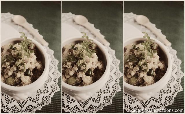 Quinoa Salad - Zucchini & Chickpeas