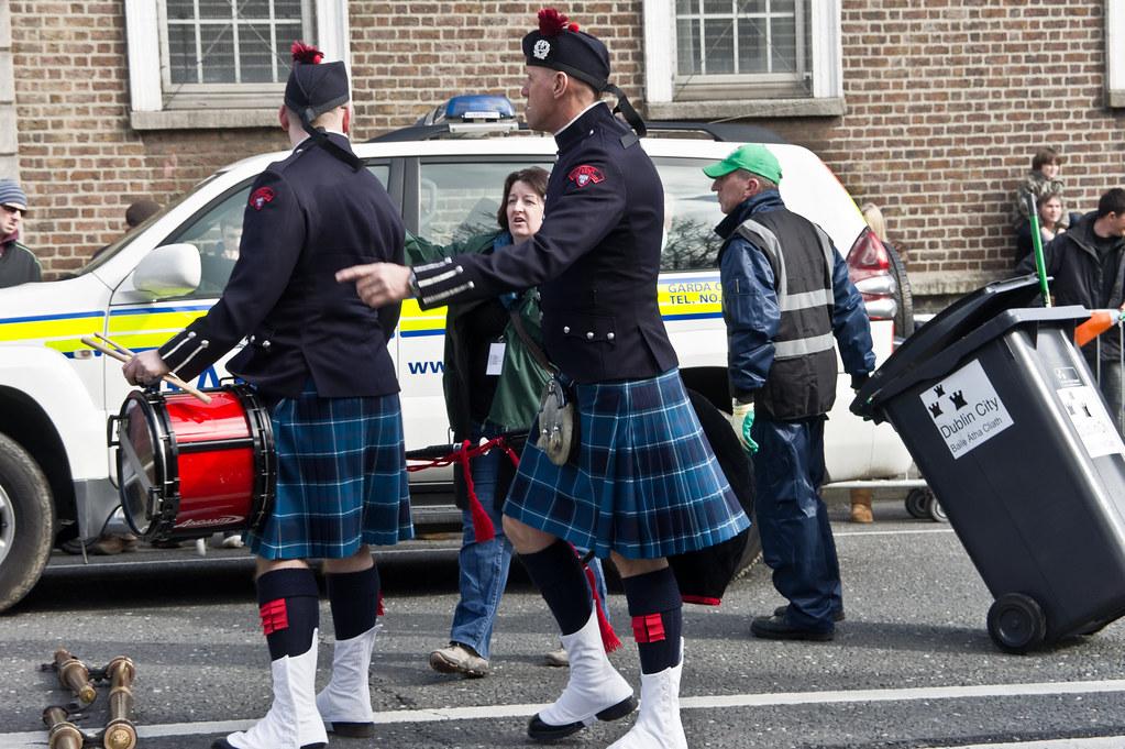 St. Patrick's Parade 2011 - Dublin Fire Brigade Pipe Band