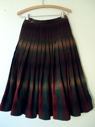 Plaid Wool Vintage Skirt