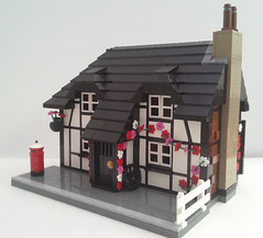 Finished pics of cottage (bricktrix) Tags: castle train layout lego cottage corfe beams