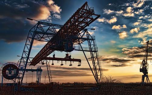 フリー写真素材, 建築・建造物, 工場・産業機械, 港湾, ドイツ, HDR,