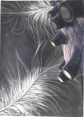 exceptionally unusual incident,2008 (kirkhof) Tags: bw black paris art collage illustration dark paper twilight poetry graphic handmade contemporaryart kunst photomontage minimalism transition visualpoetry ornamentation transcendent bookpage minimalart