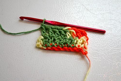 A double crochet row