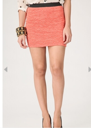 abby bodycon textured mini skirt corla 9.99