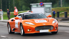 Spyker Aileron (Niels de Jong) Tags: orange drag memorial commons explore pan panning supercar maarten speeding 2010 spyker aileron explored panningshot nielsdejong ndjmedia