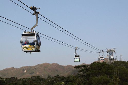 Ngong Ping 360 cable car on Lantau Island
