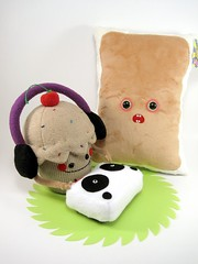 sweet dj  and toaster pastry (scrumptiousdelight) Tags: toy dj plush softie cupcake kawaii plushie custom poptart stuffie