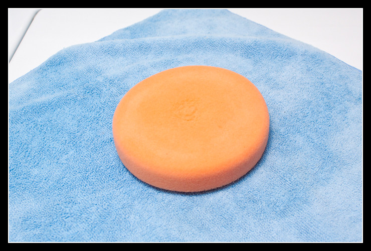 pad dry from using microfiber towel