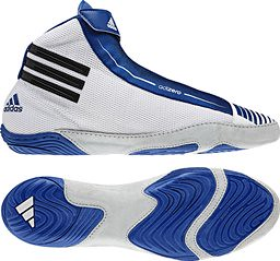 adidas Adizero White Blue wrestling shoes