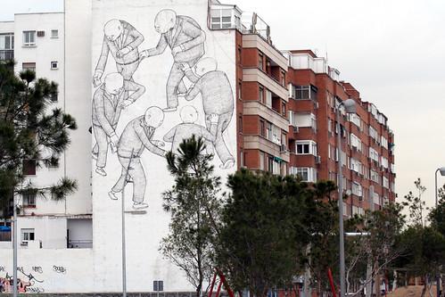 en Madrid, una fachada vana