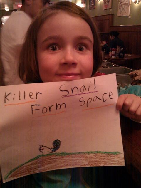 Killer Snails Form Space