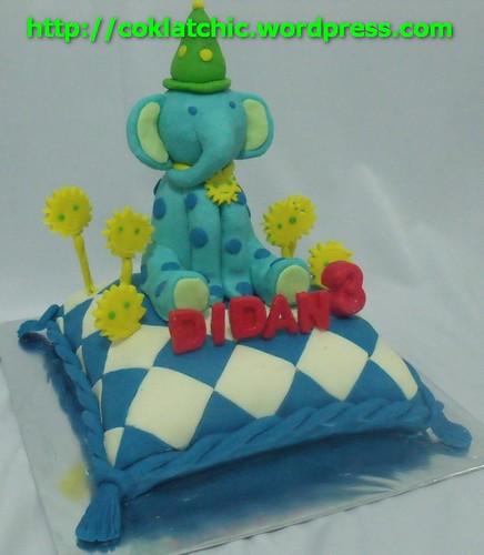 Kue berbentuk Gajah – DIDAN | Jual Kue Ulang Tahun