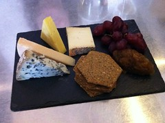 Cheese board at Cafe Fish, Edinburgh