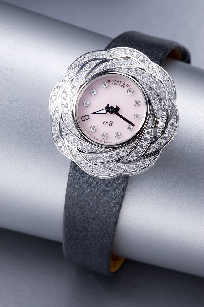 Bedat & Co Ref 882 with diamond case and Peru opaline dial