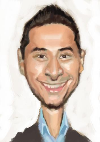 Juan Gha El Cinco caricature WIP