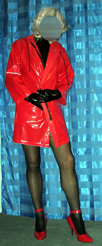pvc fetish raincape