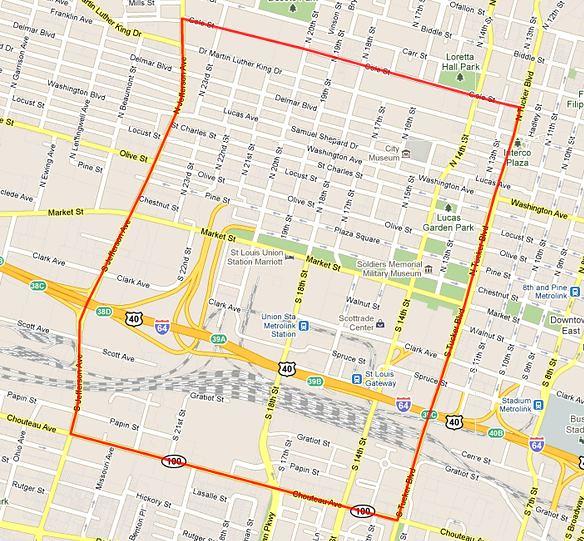 Downtown West neighborhood - STL
