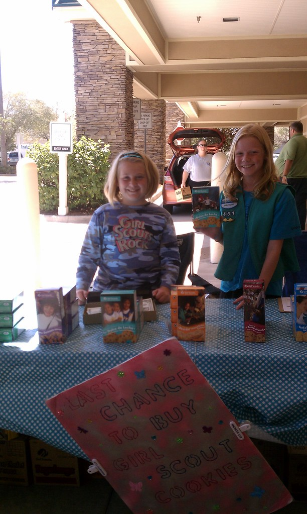 Girl Scouts Selling Cookies during the 2011 Cookie Season
