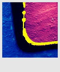 Bienvenue - Welcome - Bienvenido - Welkom - Willkommen - Benvenuti (Vancayzeele Olivier) Tags: pink blue streetart black colors rose yellow jaune square graffiti noir tag peinture bleu abstraction couleur camerabag carr abstrait arosol vancayzeele mygearandme