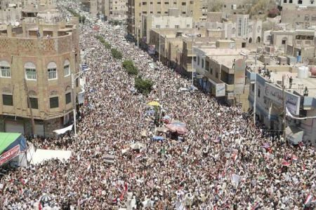 The people of Yemen rallied in the hundreds of thousands to demand the resignation of the US-backed regime of President Saleh. The US has focused exclusive attention on Libya due to strategic interests. by Pan-African News Wire File Photos
