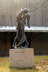 statue of Juliet  and Romeo in Central Park, NYC (faungg) Tags: park street city nyc travel urban sculpture newyork art manhattan central scene romeo juliet   0309