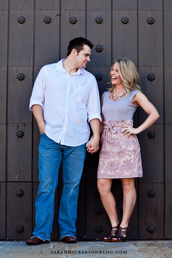 Country Club Plaza Kansas City engagement photos