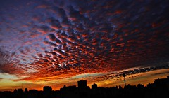 Some sunsets are memorable ( expressing emotions ) Tags: city cityscapes sky clouds color rainbow contrast contraste cielo horizonte horizon arcoiris nubes ciudad