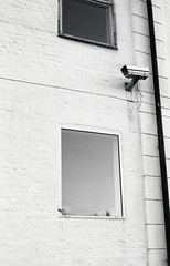 Banksy (Magnus Bergstrm) Tags: canonae1 canon ae1 analog bw blackwhite blackandwhite kodak kodaktmax100 kodaktmax tmy 100tmx sweden sverige karlstad vrmland camera wires wall pipe window windows wire surveillance security