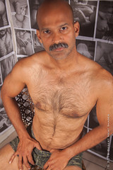 IMG_2250 (DesertHeatImages) Tags: yellow joe hunter hairy furry daddy bear otter naked nude uncut indian moustache camo