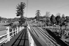 Lines (Gillian Everett) Tags: cooroy railway station lines queensland australia bw bridge rail