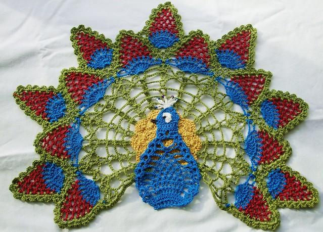 Peacock Doily Free Crochet Patterns